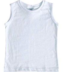 camiseta regata malha flame com punho lazy branca