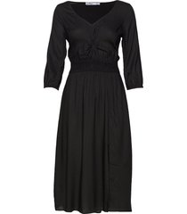 cutout knit midi dress knälång klänning svart hollister