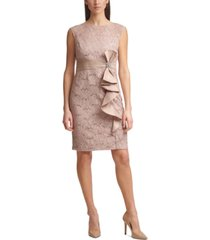 jessica howard petite cascade-ruffle sheath dress