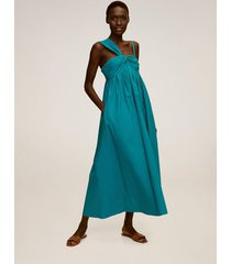 asymmetrische popeline jurk