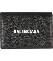 balenciaga snap button logo wallet