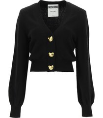 moschino cardigan with teddy bear buttons