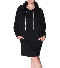 women's bun maternity relaxed maternity/nursing hoodie dress