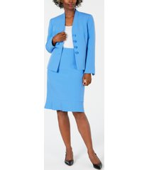 le suit ruffled skirt suit