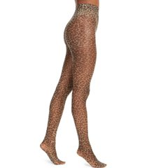 inc women's leopard print sheer tights, created for macy's