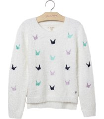 blusa le lis petit butterfly off white feminina (dust, 11)