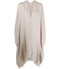 brunello cucinelli fringed sequin shawl - neutrals