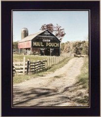 "trendy decor 4u mail pouch barn by lori deiter, ready to hang framed print, black frame, 14"" x 18"""