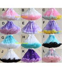 soft tutu skirt lolita cosplay petticoat fluffy crinolines fashion dance costume