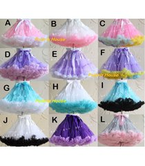 soft tutu skirt lolita cosplay petticoat fluffy crinolines fashion dance costume
