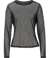 maglia in mesh con stampa flock a stelle (nero) - bodyflirt