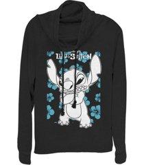 fifth sun juniors disney lilo stitch lilo party fleece cowl neck sweatshirt