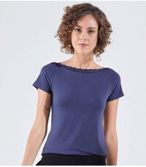 liz easywear blusa decote canoa feminina - feminino