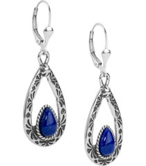 american west blue lapis teardrop dangle earrings