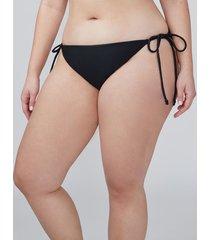 lane bryant women's swim string bikini bottom 16 black