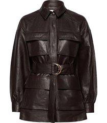 sydney leather shirt läderjacka skinnjacka brun notes du nord