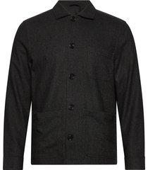 m. louis flannel jacket overshirts grijs filippa k