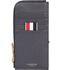 thom browne designer men's bags, zip wallet