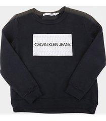 casaco infantil calvin klein box logo feminino