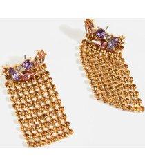 julianna jewel cluster statement earrings - pale pink