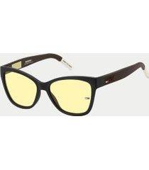 tommy hilfiger women's icon sunglasses yellow/ black -