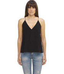 blusa negra calvin klein drapey camisole top