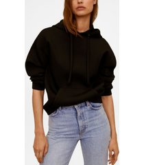 mango women's hooded flowy sweatshirt