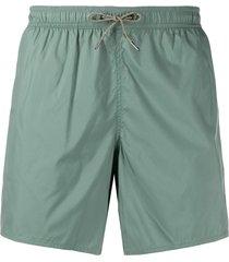 emporio armani drawstring waist swim shorts - green