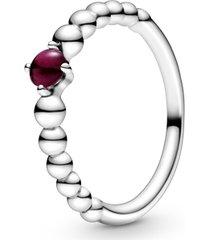 anel esferas vermelho escuro - mês de janeiro