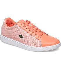 carnaby evo 117 1 låga sneakers orange lacoste shoes