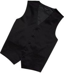 pronto uomo black silk vest