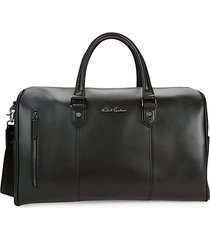 bolger faux leather weekend bag