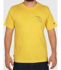 camiseta rip curl easy amarela masculina