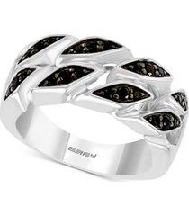 effy men's black spinel ring in sterling silver