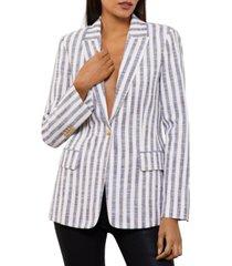 bcbgmaxazria striped one-button blazer