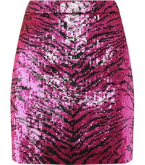 pink and black sequined skirt