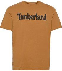 k-r brand linear t t-shirts short-sleeved orange timberland