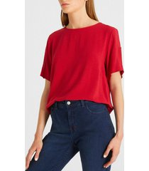 blusa garza rojo canadienne