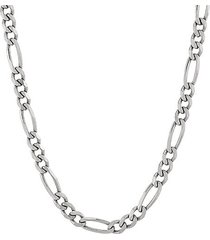 basic sterling silver figaro chain necklace/22""