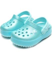 babuche crocs menino ice pop clog azul
