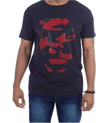 heads or tails 3d graphic dual color skull t-shirt