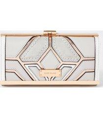 river island womens grey metallic cutabout cliptop purse