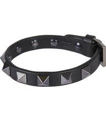 valentino garavani pyramid studded buckled bracelet