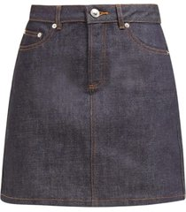 jupe standard raw-denim mini skirt