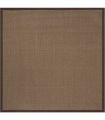 safavieh natural fiber brown 6' x 6' sisal weave square rug