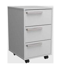 conjunto p/ escritório mesa e gaveteiro branco nova mobile