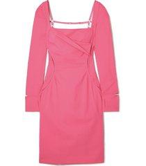 cerro cutout stretch-wool dress