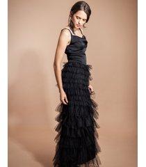 sukienka wieczorowa z tiulem