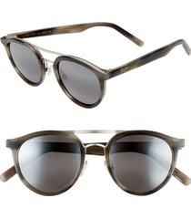 men's maui jim sunny days 49mm polarizedplus2 round sunglasses -