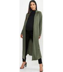 maternity longline duster jacket, khaki